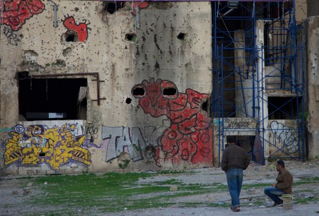 Graffiti in Beirut. East of the Green Line. Don Michael Hudson, PhD National Museum of Beirut Beirut, Lebanon