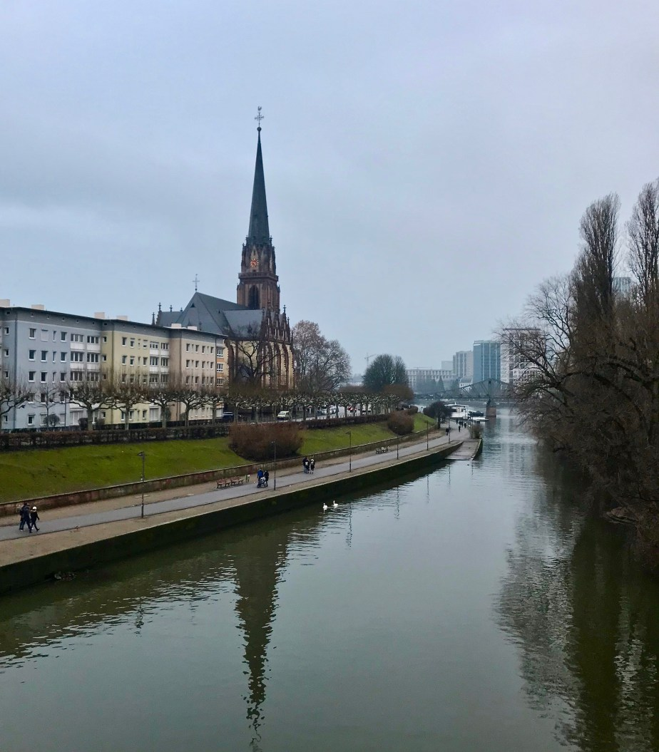 February in Frankfurt, Germany