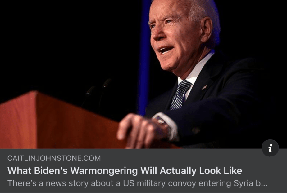 What Biden's Warmongering Will Actually Look Like by Caitlyn Johnstone