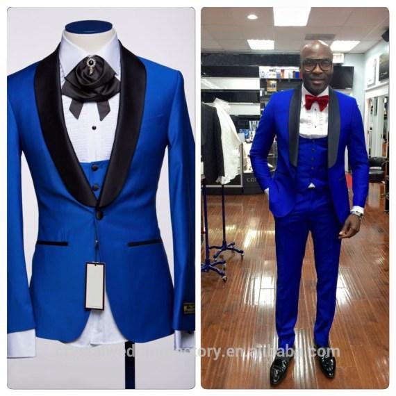 Don Minteiro Men's Two Button Notch Lapel Slim Fit 3-Piece Suit Blazer Jacket Tux Vest & Trousers Set