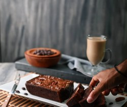 Reduced-Fat & Sugar Chocolate Pound Cake