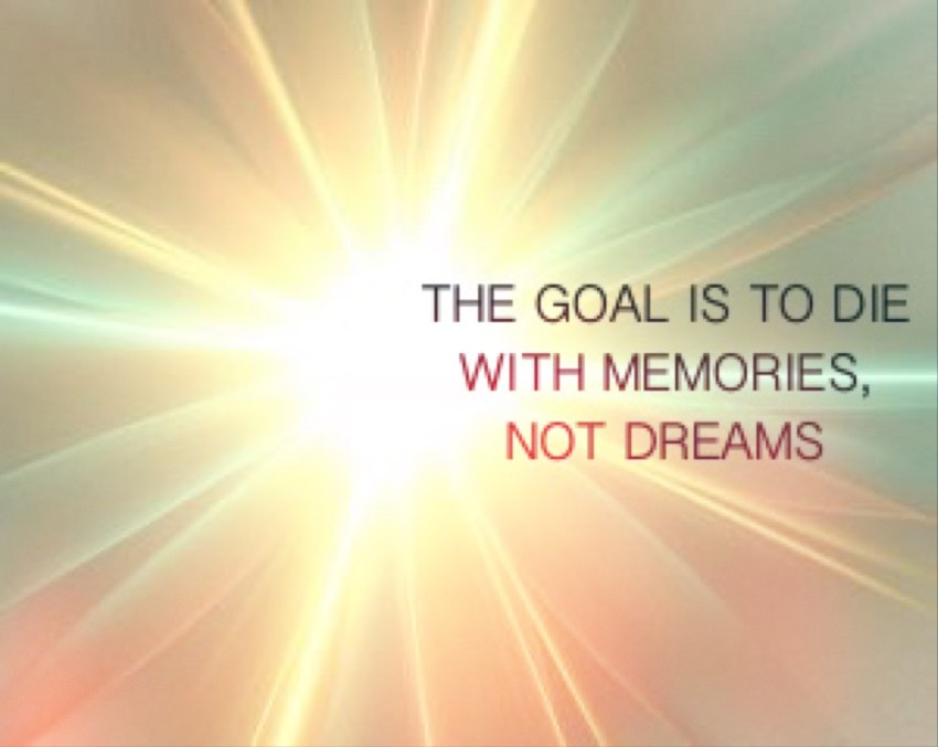 DON'T HAVE A DREAM/ THE GOAL IS TO DIE WITH MEMORIES NOT DREMAS