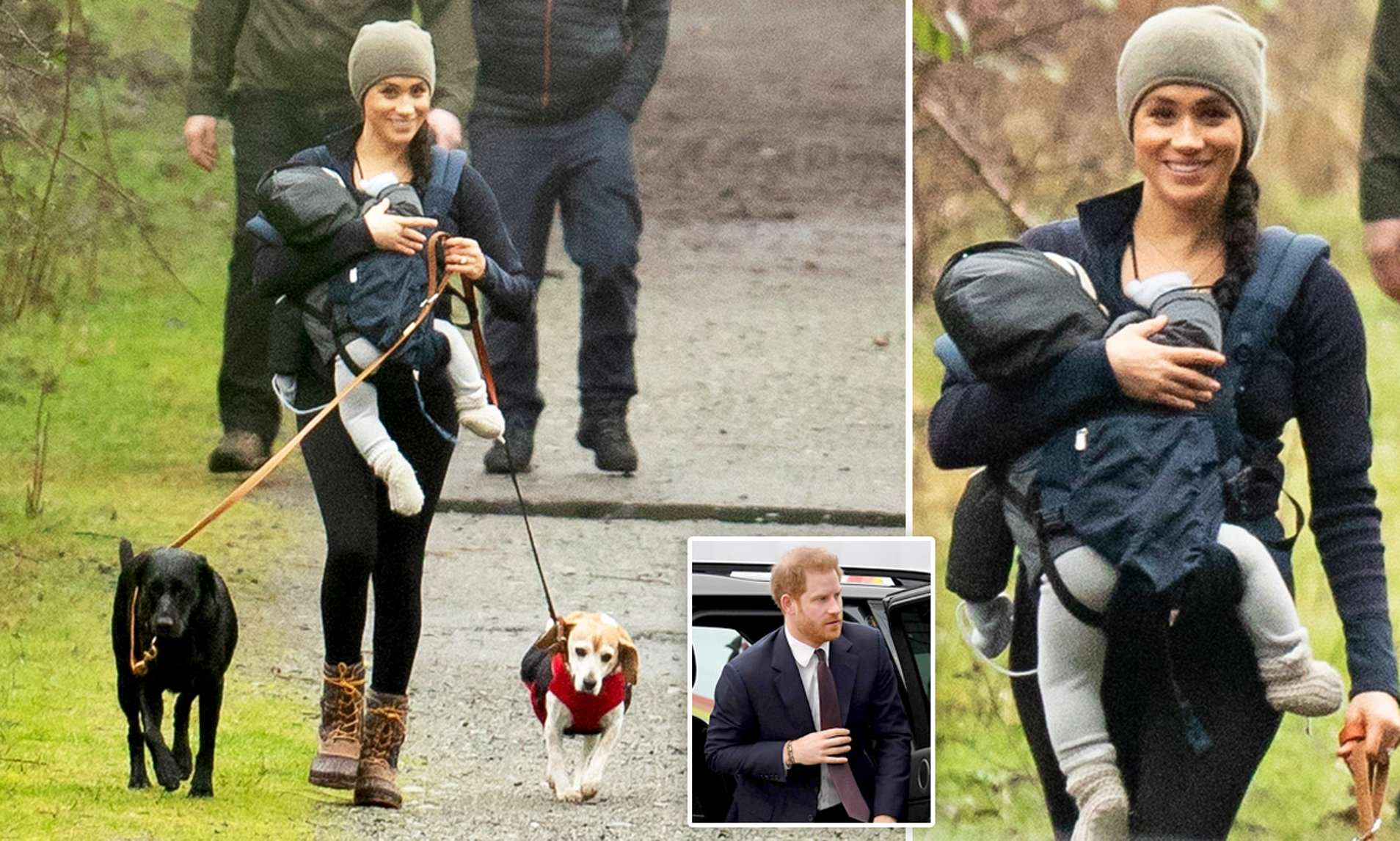 Meghan carrying Archie/ mom shaming Meghan markle