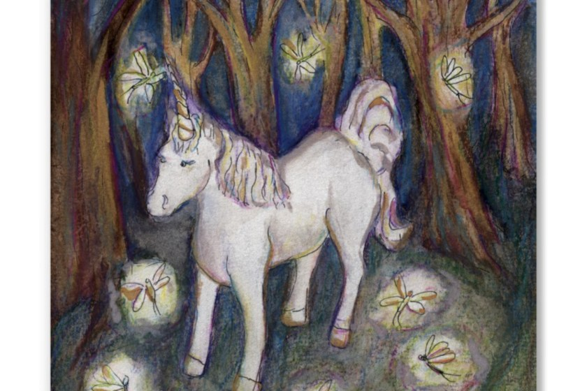 Unicorn Fairies Enchanted Forest Art Painting Gifts