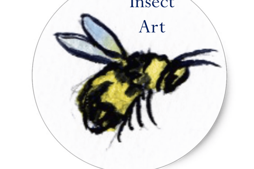 Honey Bee Stickers or Labels - Custom Insect Art Gallery & Gifts