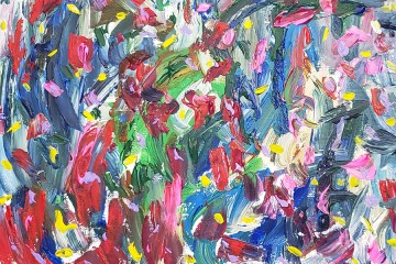 Abstract Art Painting 24 on Canvas (Wet Paint)