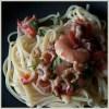 pasta met scampi en garnalen