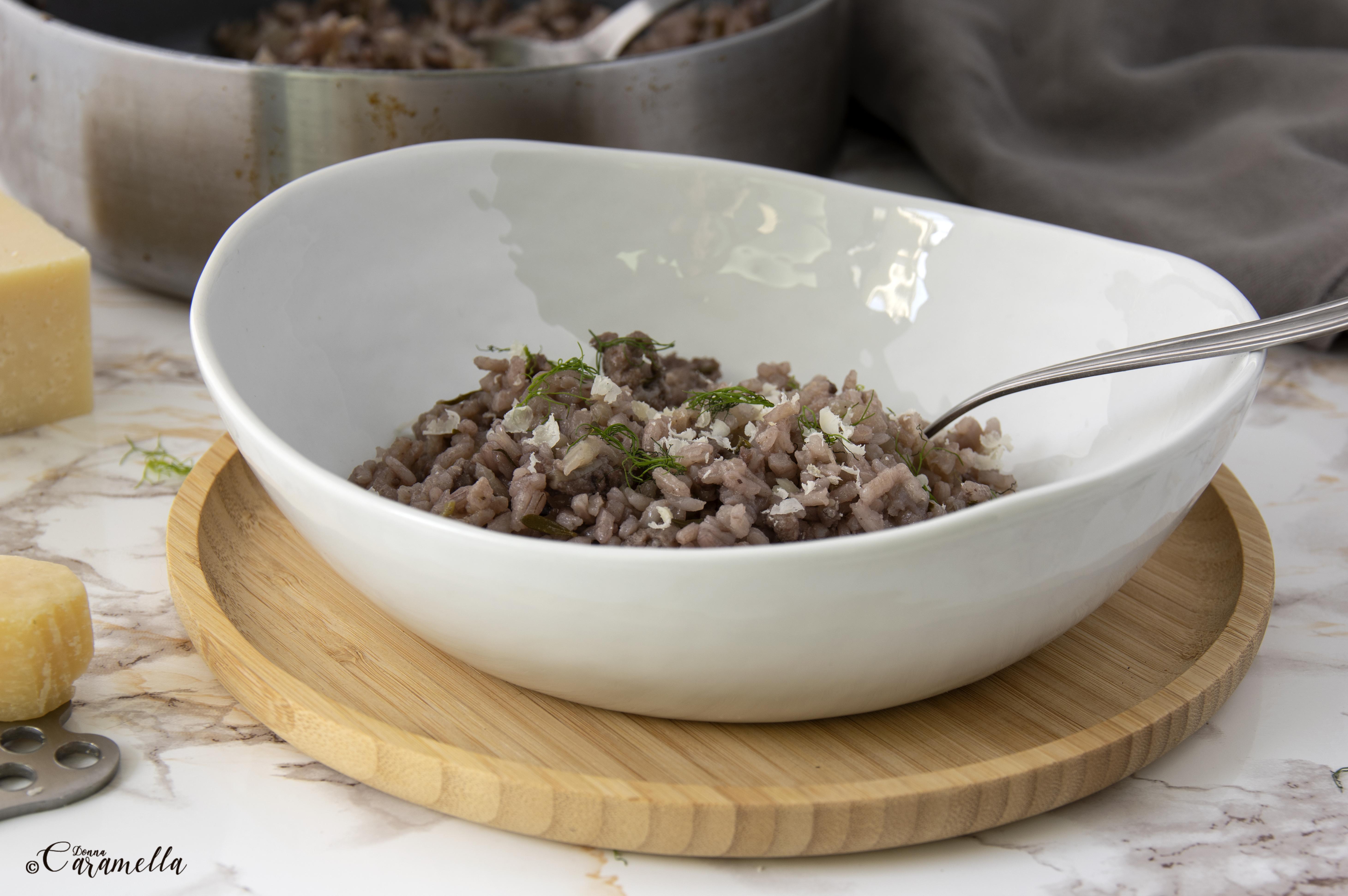 risotto met worst en venkel