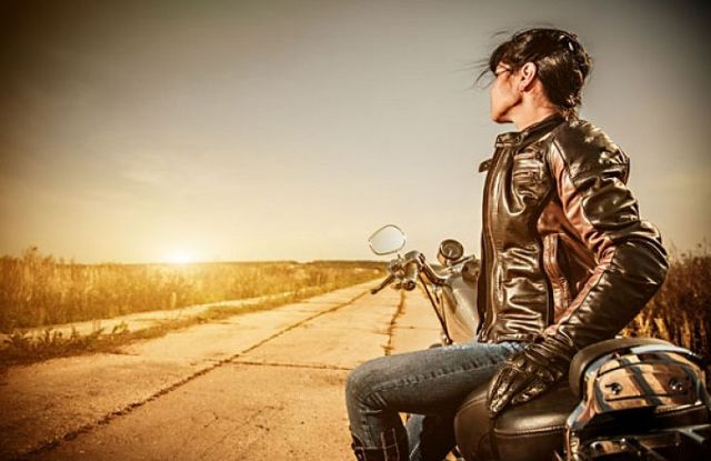 Knights White Satin - Woman - motorcycle - highway