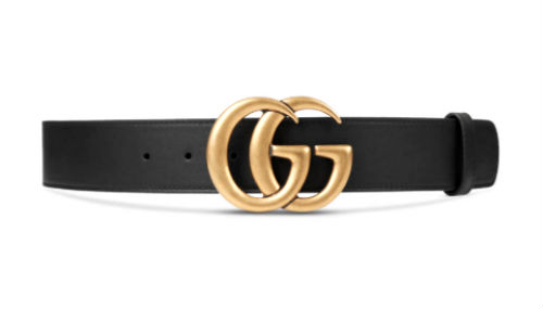 Gucci belt, black leather with double G logo