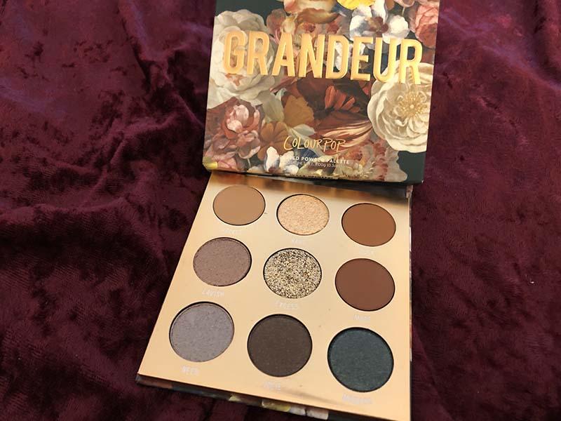 Colourpop Grandeur eye shadow palette