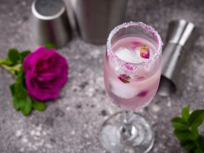 Festive Champagne Cocktail and Mocktail