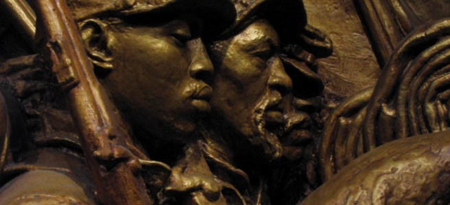 Detail of the Robert Gould Shaw Memorial in Boston.