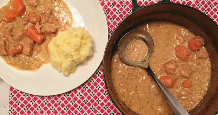 One Pot Pork and Cider Casserole