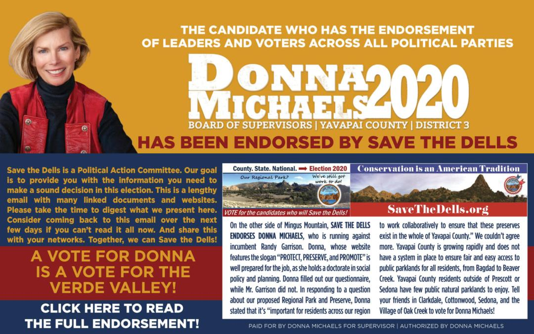 Save the Dells Has Endorsed Donna!