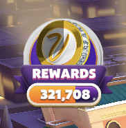 """myVEGAS Bingo Loyalty Reward Points meter. This fills up like a wall clock making one full rotation. The bright areas of the """"clock"""" are how much time has passed"""", and the greyed out area is how much time is left until the Loyalty Points are awarded."""