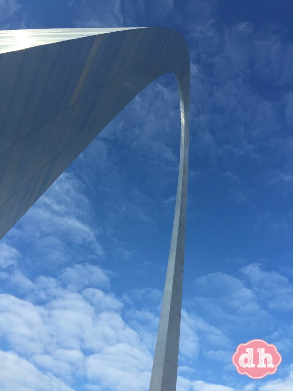 Going up in the Gateway Arch in St Louis