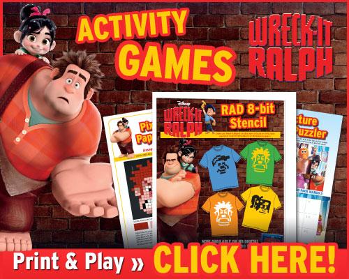Wreck-It Ralph Activities