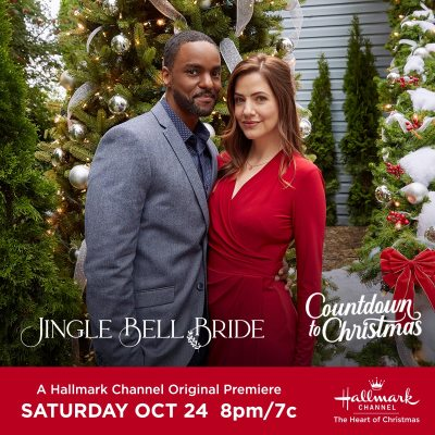 "Hallmark Channel Original Premiere of ""Jingle Bell Bride"" on Saturday, Oct 24th at 8pm/7c! #CountdowntoChristmas"