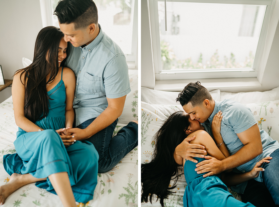 cozy engagement session