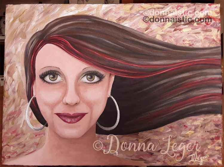 Alana Portrait. Original Acrylic Painting by Donna Léger. A gift to Alana, the mother of my grandchildren.