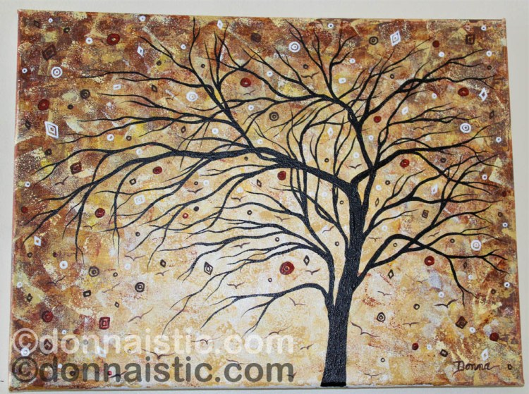 Whimsical Tree. Original Acrylic Painting by Donna Léger.