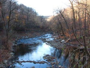 Monoshone Creek, a tributary of the Wissahickon Creek, Near Lincoln Drive in Wissahickon Valley Park. Photo by Donna L. Long.