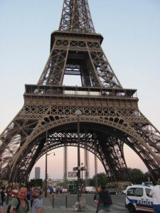 The base of the Eiffel Tower. Photo by Donna L. Long.
