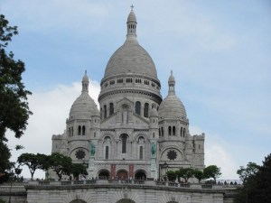 Sacre-Coeur church - atop the Butte Montmartre - is Paris' highest point - 420 feet above sea level. (Photo by Donna L. Long).