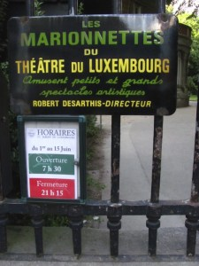 A marionette show at the Luxembourg Gardens in Paris. Photo by Donna L. Long , 2014. All rights reserved.