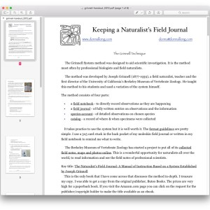 Grinnell Method handout 2012