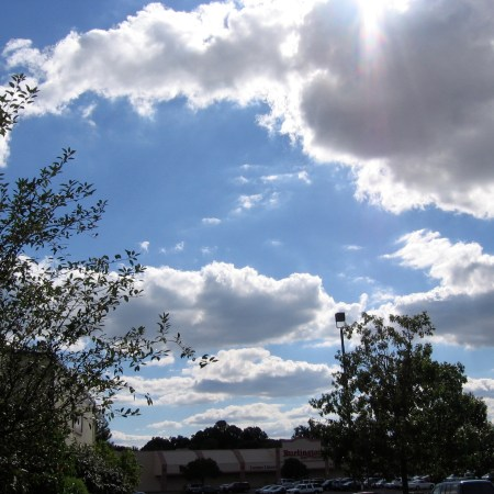 Blue sky with cumulus clouds