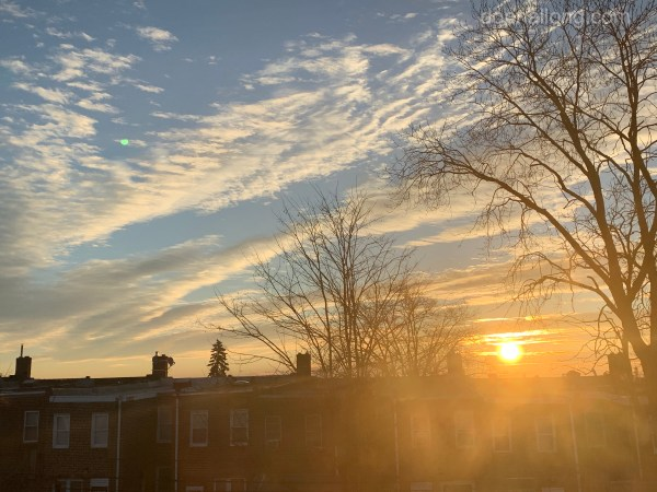 the Sun has risen