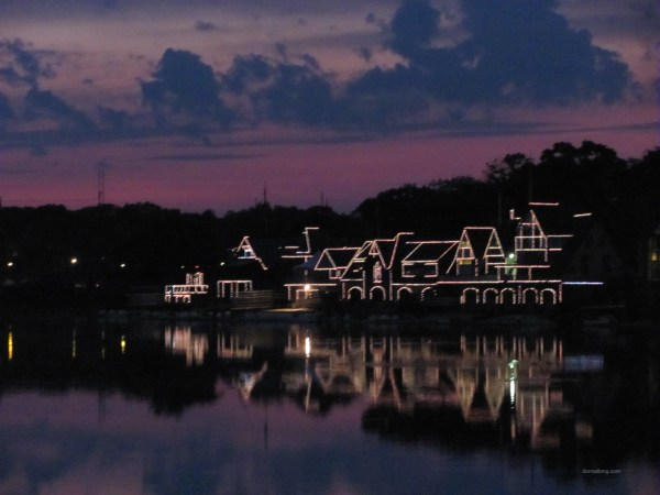 Philly's Boathouse Row at sunset