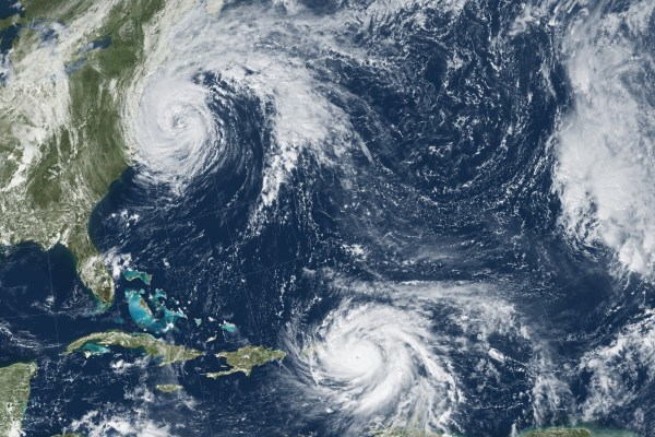 Hurricanes Maria and Jose in the Caribbean - Photo by Nasa.gov.