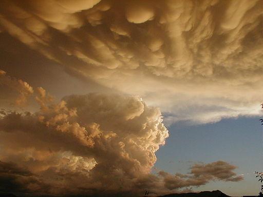 Mammatus and Cumulonmibus clouds
