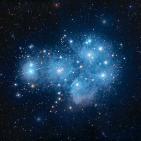 Open cluster, the Pleiades