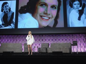 Carrie Fisher Tribute w/daughter Lourde