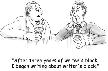 'after three years of writing block I began writing ...'