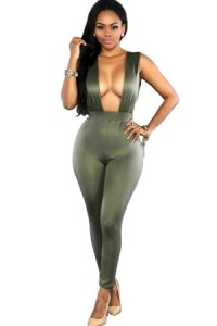 olive bodycon jumpsuit