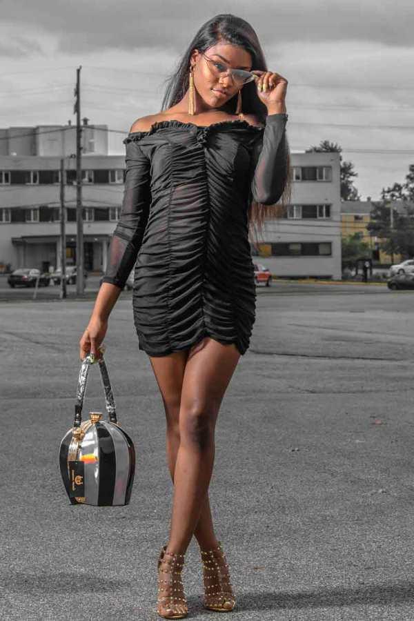 Beyonce Beyon Say Mesh See Through Rouched Dress 00