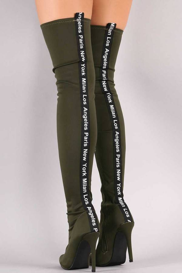 Bella Luna Adona-21 Fashion Cities Pointy Toe Over The Knee Stiletto Boots