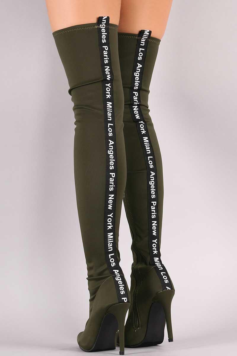 Bella Luna Adona-21 Fashion Cities Pointy Toe Over The Knee Stiletto Boots