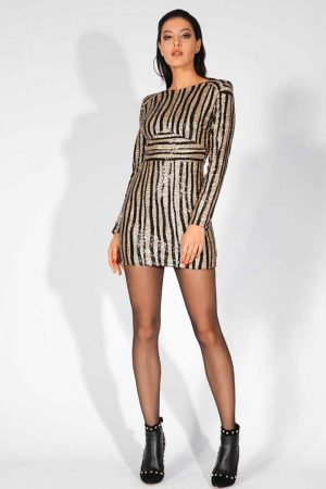 Glam Star Gold Sequin Dress