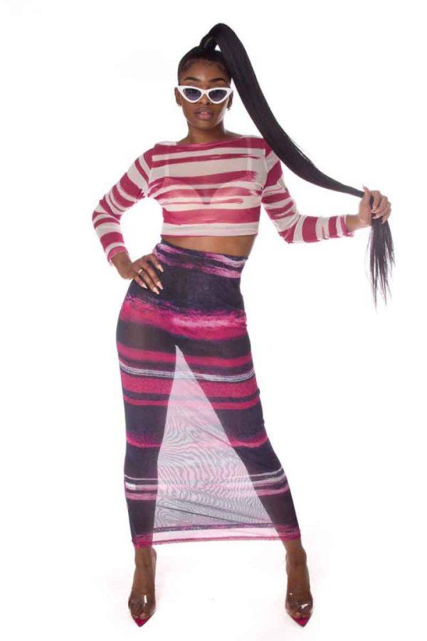 Fully Developed Print 2PC Skirt Set