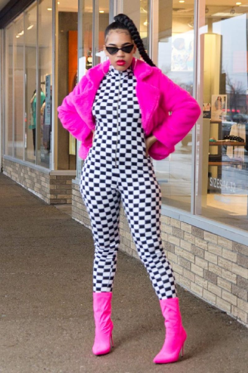 Racer X Checkered Jumpsuit Playsuit