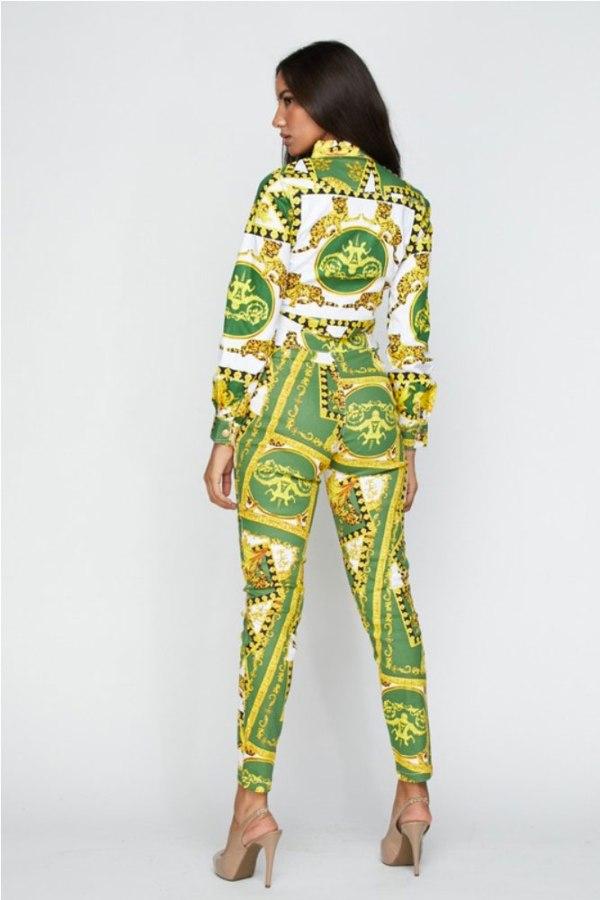 Unapologetic DPrint 2-Piece Crop Jacket Pants Set