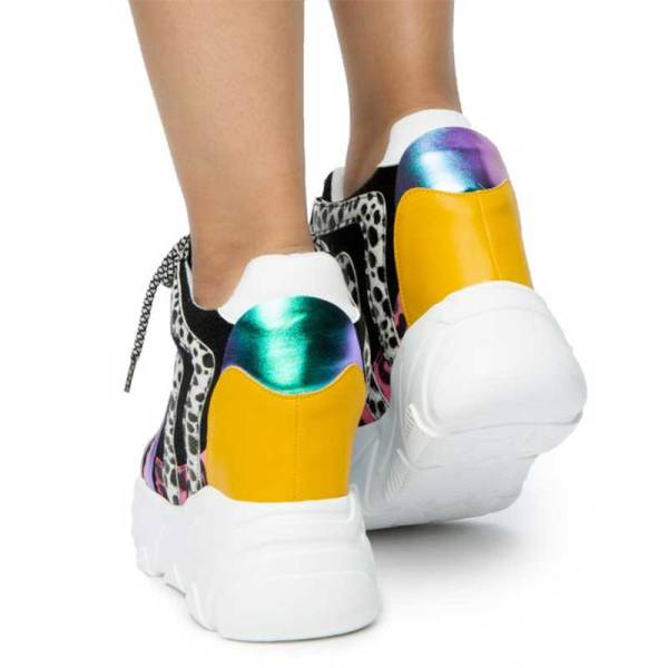 anthony wang logan-01 wedge platform sneaker multi