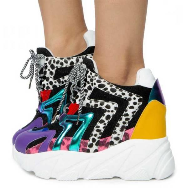 anthony weng logan01 wedge platform sneaker multi
