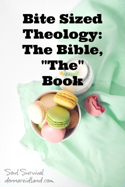 "Bite Sized Theology: The Bible, ""The"" Book - This week we're going to take a little bite out of the Doctrine of the Bible or Bibliology."